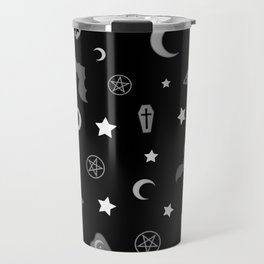 goth occult pattern Travel Mug