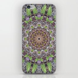 Natural elements in forest mandala iPhone Skin