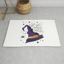 HALLOWEEN-IF THE HAT FITS-WITCH HAT Rug
