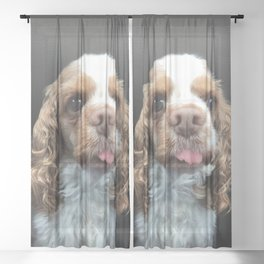 Fiona - the wonder dog Sheer Curtain