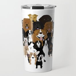 Dogs, A Cat, And A Chicken Travel Mug