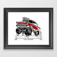 57 Gasser Series REV-2 RED Framed Art Print