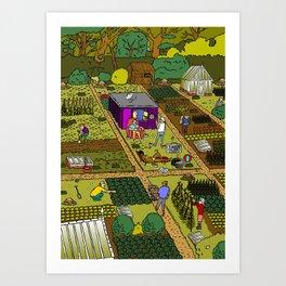 Allotment Hedz Art Print