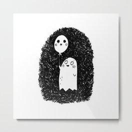 Happy Ghost Metal Print