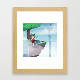not a care Framed Art Print