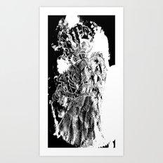 Unfinished [Pen and Ink Figure Illustration] Art Print