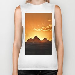 Grand Teton Sunrise Biker Tank