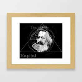 The Time of Marx Dark Framed Art Print