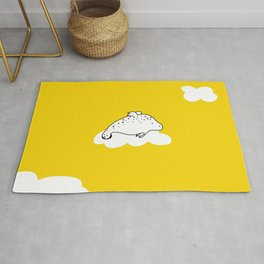 Flying Manatee by Amanda Jones Rug