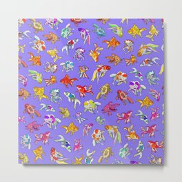 Aquarium Ultraviolet Metal Print