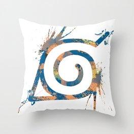 Naruto - Konoha Logo Throw Pillow