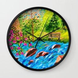 Creekside Beauty Wall Clock