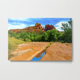 Lovely Day at Red Rock State Parke Metal Print