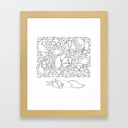the 11th fox - the sleeping version Framed Art Print