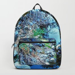 Stream Reflections at Dusk Backpack