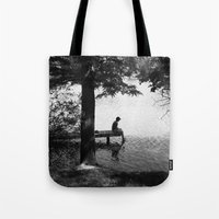 alone Tote Bags featuring Alone by Kerri Swayze