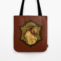 baphomet Tote Bags featuring Baphomet by Abigail Larson