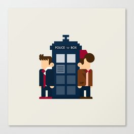 Doctor Who 10th & 11th Canvas Print