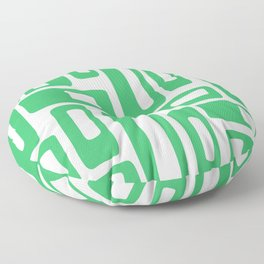 Retro Mid Century Modern Abstract Pattern 336 Green Floor Pillow