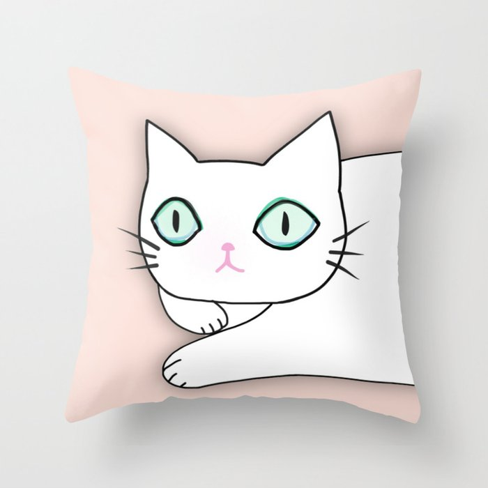 cat 597 Throw Pillow