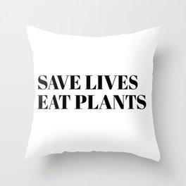 save lives Throw Pillow