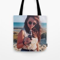 coca cola Tote Bags featuring coca cola by Millie Clinton