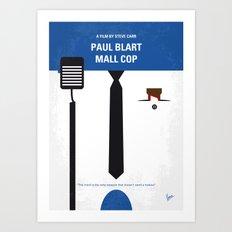 No579 My Paul Blart Mall Cop minimal movie poster Art Print