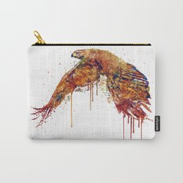 Flying Hawk Watercolor Painting Carry-All Pouch