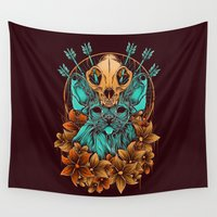 sphynx Wall Tapestries featuring Sphynx Cat by Robin Clarijs