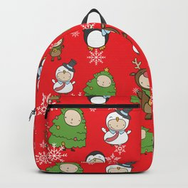 Children Christmas Costumes Pattern Backpack