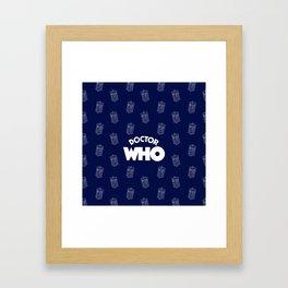 Tardis Pattern Framed Art Print