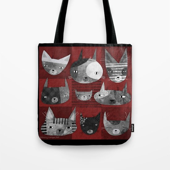 GRUNGE CATS Tote Bag