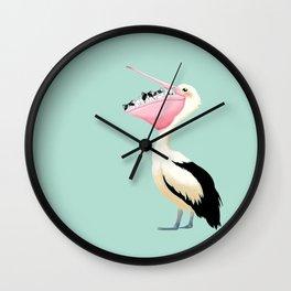 Loving Heart Pelican Wall Clock