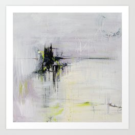 No. 08 Pastel Abstract Painting  Art Print