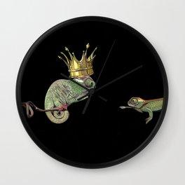 Chameleon Monarchy Wall Clock