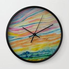 morning sky Wall Clock