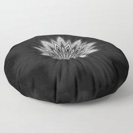 Black Ice Mandala Swirl Floor Pillow