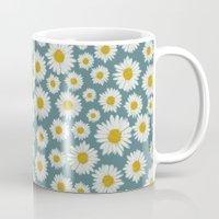 daisies Mugs featuring daisies by kociara