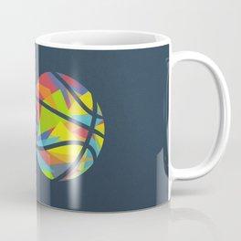 Basketball Explosion Triangle Coffee Mug