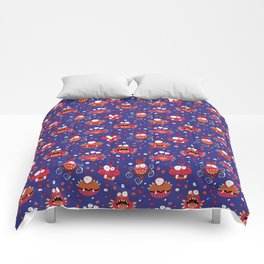 Monster Mash Purple Comforters