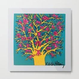 Keith Haring: The Tree of Monkeys Metal Print