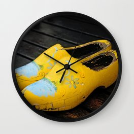 Wooden Shoes Wall Clock
