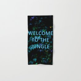 Welcome to the Jungle - Neon Typography Hand & Bath Towel
