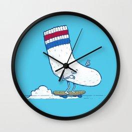 Lost Sock Skater Wall Clock