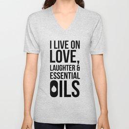 CUTE PRETTY ESSENTIAL OIL DIFFUSER designS - LIVE LOVE Unisex V-Neck