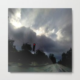 Rainy Overcast Metal Print
