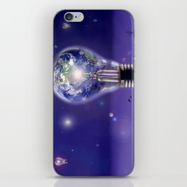 The sun is a light bulb iPhone Skin