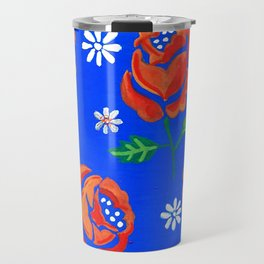Orange rose tile Travel Mug