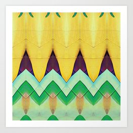 Yellow Vibe_Pyraw Art Print