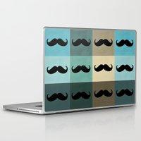 moustache Laptop & iPad Skins featuring Moustache by Zetanueta
